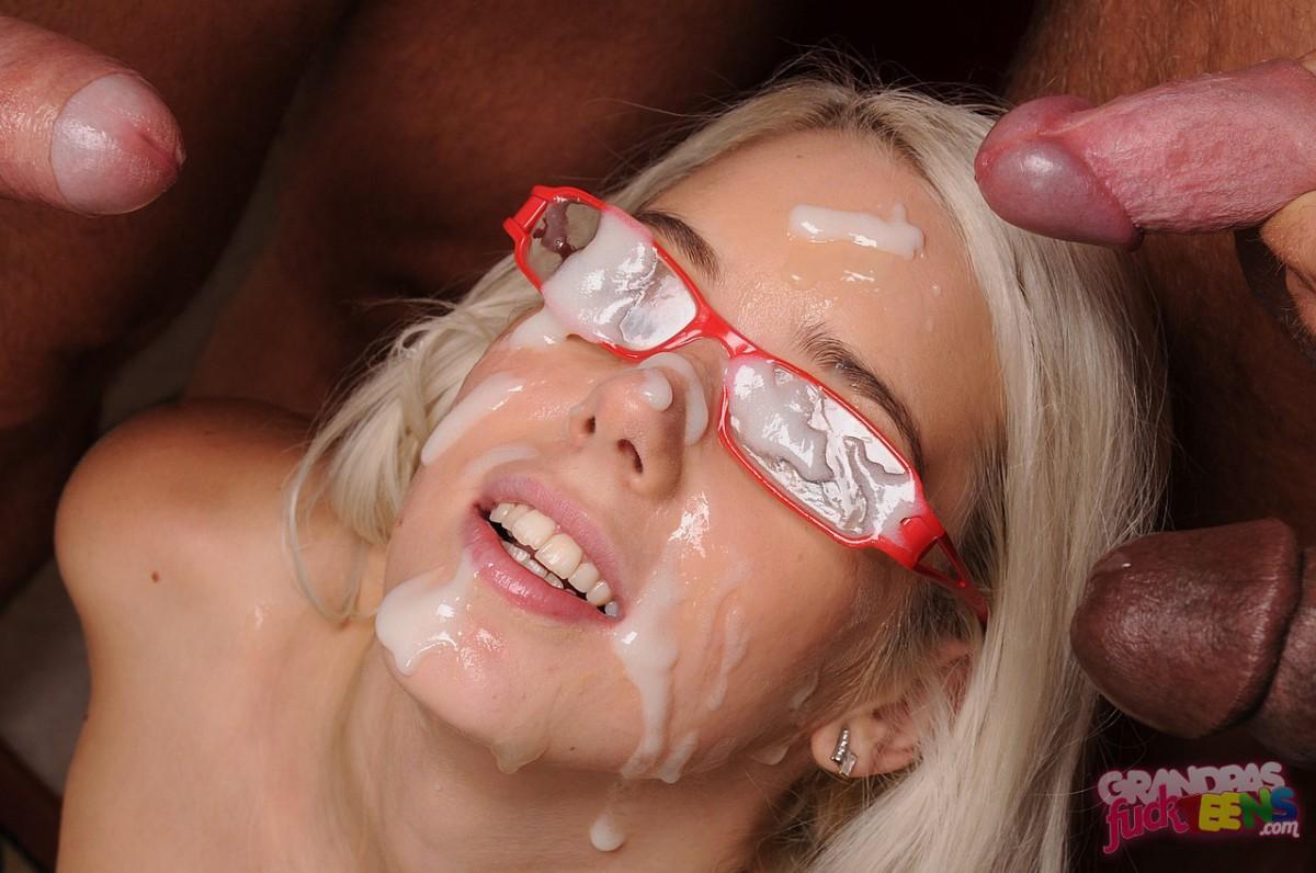 21 year old blowbang girl skylar gives 7 blowjobs 4