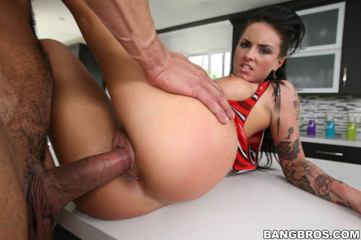 sexy assed oiled up brunette alisha sweet gets her smooth pussy